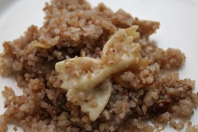 kasha with bowtie pasta